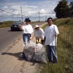 Cleaning up the roadside along Selwyn Road, Bridgenorth ON